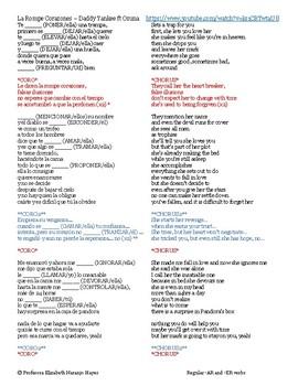 La Rompe Corazones - Daddy Yankee ft Ozuna - Regular -AR and -ER verbs