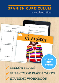 La Ropa - 1 Week of Lesson Plans with Flash Cards
