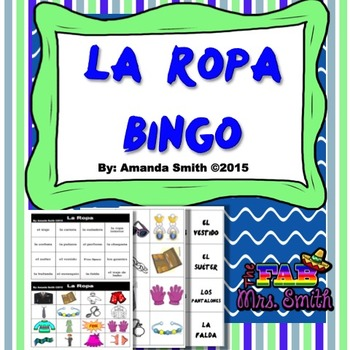 La Ropa BINGO (Spanish Clothing)