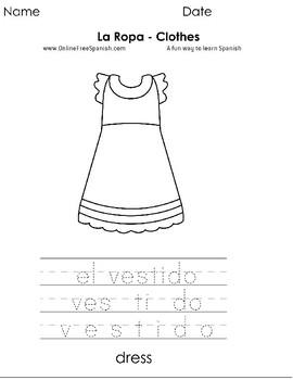 La Ropa - Clothes - Páginas para Colorear - Coloring Pages