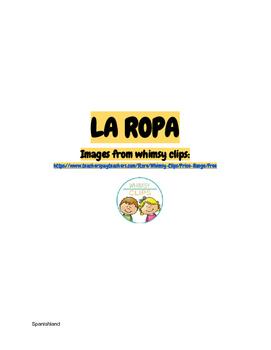 La Ropa (Clothes in Spanish)