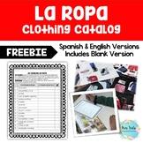 La Ropa (Clothing Catalog/Scavenger Hunt Activity) * FREE *
