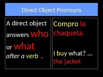 La Ropa - Direct Object Pronouns
