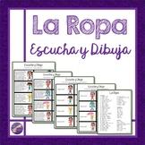 La Ropa, Escucha y Dibuja, Vocabulary, Conversation, Liste
