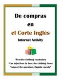 La Ropa Internet Activity - Shopping at the Corte Inglés