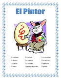 "La Ropa-Label the clothes Spanish-""El Conejo Pintor""-Spring Clothing-Easter"