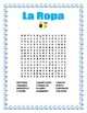 """La Ropa-Label the clothes Spanish-""""El Conejo Pintor""""-Spring Clothing-Easter"""