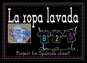 La Ropa Lavada: A quick and creative project to get to know your students