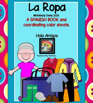 La Ropa - Spanish Book and color pages