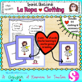 La Ropa Spanish Clothing Flashcards