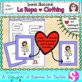 La Ropa Spanish Clothing Flashcards