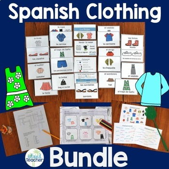 La Ropa Spanish Clothing Lesson Bundle