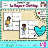La Ropa Spanish Clothing Puzzles