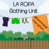 La Ropa Spanish Clothing UNIT Stations for Differentiated