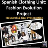La Ropa Spanish Clothing Unit Project Fashion Evolution in