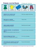La Ropa Spanish Phrases Chart