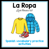NEW! La Ropa - clothing vocabulary practice in Spanish