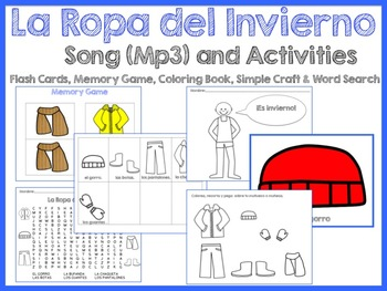 La Ropa del Invierno Activity Set - includes Song (Mp3)