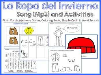 La Ropa del Invierno Activity Set - includes Song (Mp3)