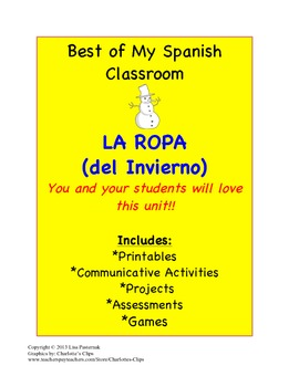 La Ropa en Español-A Clothing Unit in Spanish that you will love!