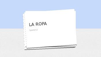La Ropa in Spanish / Flascards