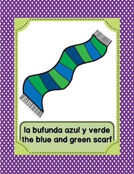 La Ropa otra vez-Spanish Clothing posters,game,COLOR & CUT STUDENT flash cards