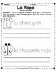 La Ropa otra vez - Spanish  Student Activity Sheets for learning clothing