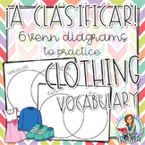 La Ropa y Los Accesorios Graphic Organizer Worksheets with