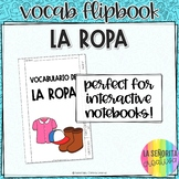 La Ropa y Los Accesorios Notes Flip Book with Pictures for Interactive Notebook