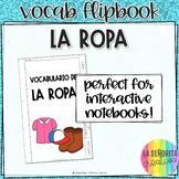 La Ropa y Los Accesorios Notes Flip Book with Pictures for Interactive Notebook