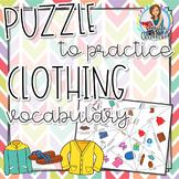 La Ropa y Los Accesorios Vocab Puzzle with Clothing Pictures
