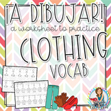 La Ropa y Los Accesorios Worksheets to Practice Reading an