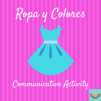 La Ropa y Los Colores/Clothing and Colors: Partner Activity