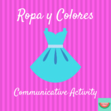 La Ropa y Los Colores/Clothing and Colors: Partner Activity