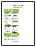 La Ropa y Los Colores-Reference Sheet