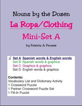 La Ropa/Clothing Mini-Set A