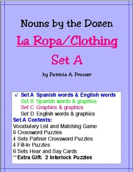 La Ropa/Clothing--Set A
