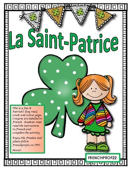 La Saint-Patrice French Saint-Patrick reading activity Ontario French