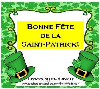 La Saint-Patrick : Break-the-Code en français!
