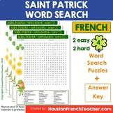 La Saint Patrick Activities: French Saint Patrick's Day - Word Search Activity