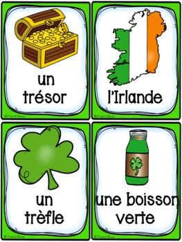 La Saint-Patrick - Cartes de vocabulaire - French St. Patrick's Day