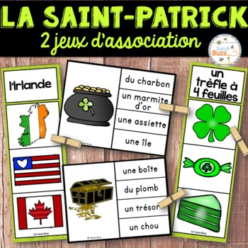 La Saint-Patrick - Ensemble 2 jeux d'association - French St. Patrick's Day