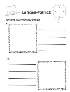 La Saint-Patrick French Booklet (Primary French/FSL)