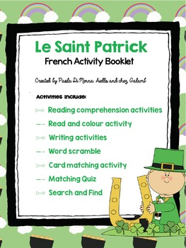 La Saint-Patrick French Booklet (Primary French/FSL)