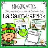 La Saint-Patrick -  French St. Patrick's Day Kinder Resource
