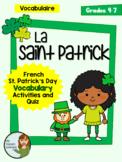 La Saint Patrick - French St. Patrick's Day Vocab Activiti