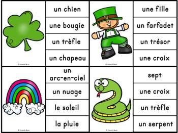 La Saint-Patrick - Jeu d'association #1 - St. Patrick's Day Clip Cards