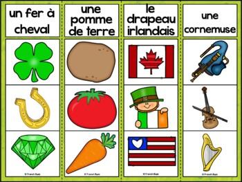 La Saint-Patrick - Jeu d'association #2 - St. Patrick's Day Clip Cards