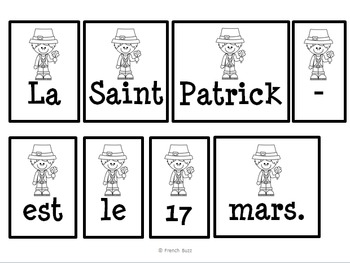 La Saint-Patrick - phrases mêlées