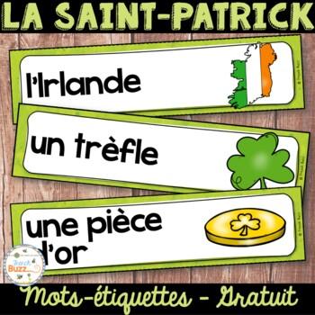 La Saint-Patrick - 28 mots de vocabulaire GRATUIT! French St. Patrick's Day